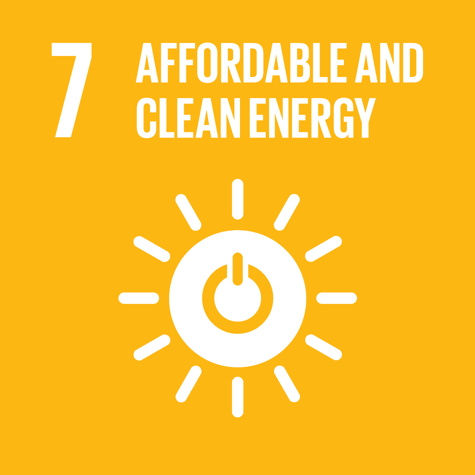 UN SDG 7 - Affordable and Clean Energy